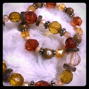 Brown and Red bracelets
